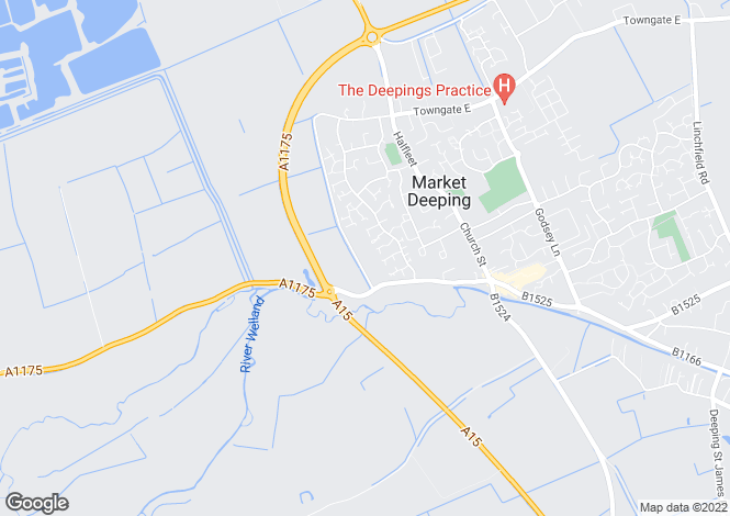 Map for 12a Millfield Road, Market Deeping, Lincolnshire