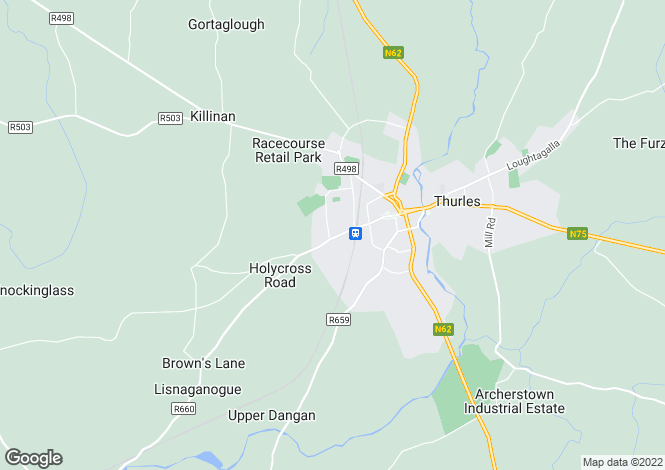 Map for Thurles, Tipperary