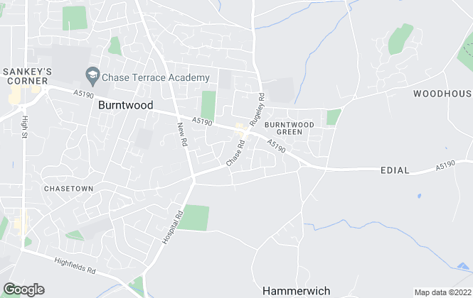 Map for Dixons, Burntwood