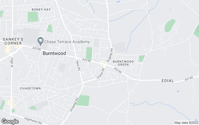 Map for Bill Tandy & Co, Burntwood
