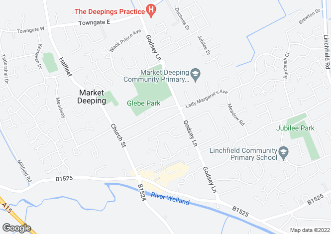 Map for The Grove, Market Deeping, Peterborough