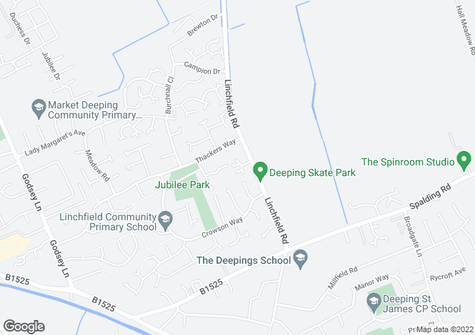 Map for Fenfield Mews, Deeping St James, Peterborough