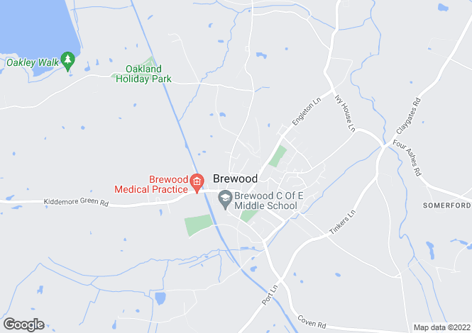 Map for The Bungalow, 7 Pendryl Close, Brewood, Stafford, South Staffordshire