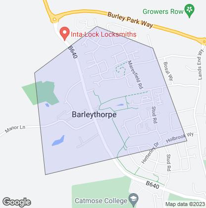 Map of property in Barleythorpe