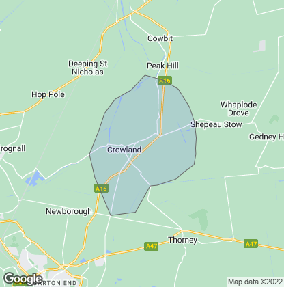 Map of property in Crowland