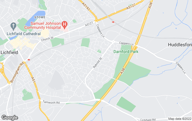 Map for Lovett&Co. Estate Agents, Lichfield