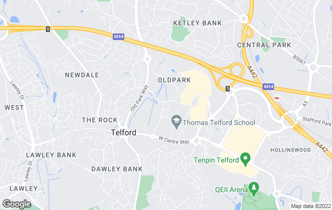 Map for Wrekin Housing Trust (RELETS), Telford