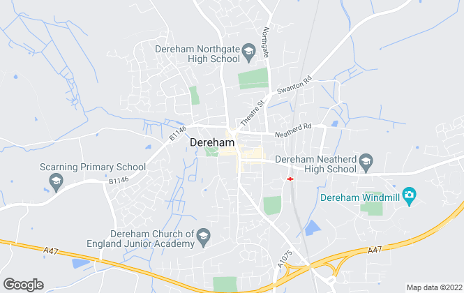 Map for William H. Brown Land and New Homes, Dereham