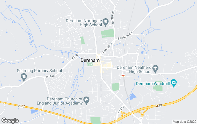 Map for William H. Brown - Lettings, Dereham Lettings