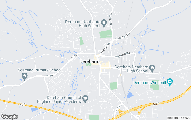 Map for Case & Dewing, Dereham