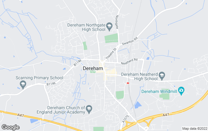 Map for Abbotts, Dereham