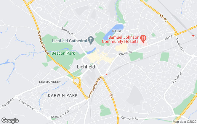 Map for Belvoir, Lichfield
