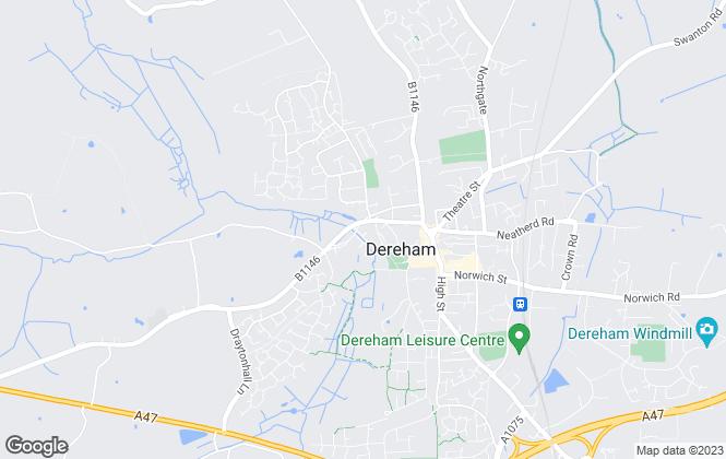 Map for Homeworks, Dereham