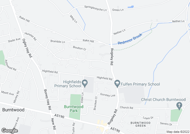 Map for Trevithick Close Burntwood