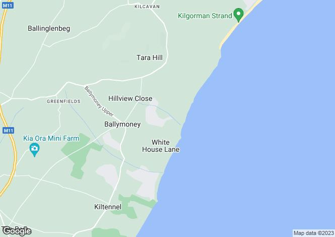 Map for Kildermot Lane, Ballymoney, Gorey, Co. Wexford