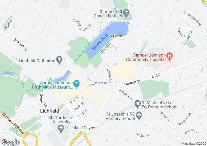 Map for Lombard Street, LICHFIELD, Staffordshire