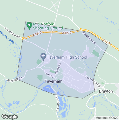 Map of property in Taverham