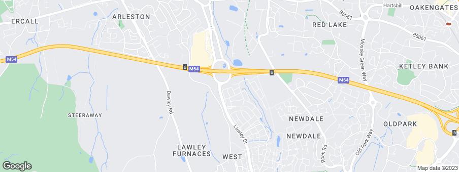 Map for Wrekin Housing Trust