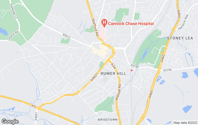 Map for Bairstow Eves, Cannock