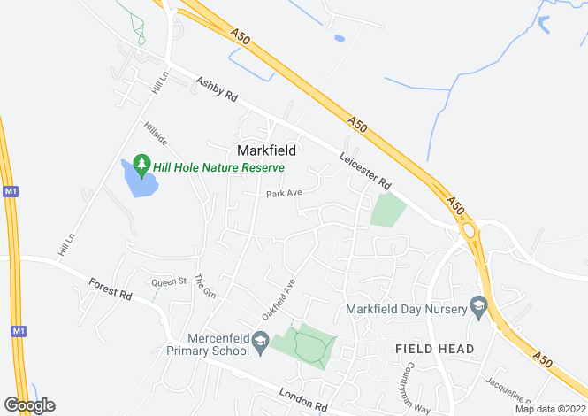 Map for Lillingstone Close, Markfield LE67
