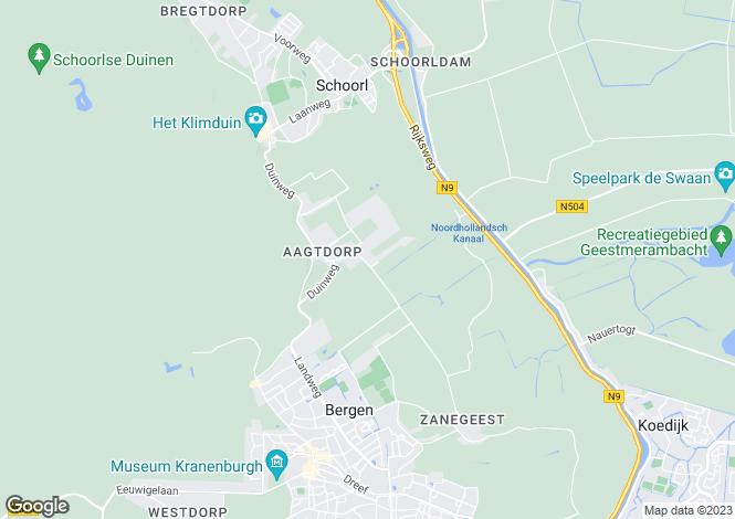 Map for Noord-Holland, Schoorl