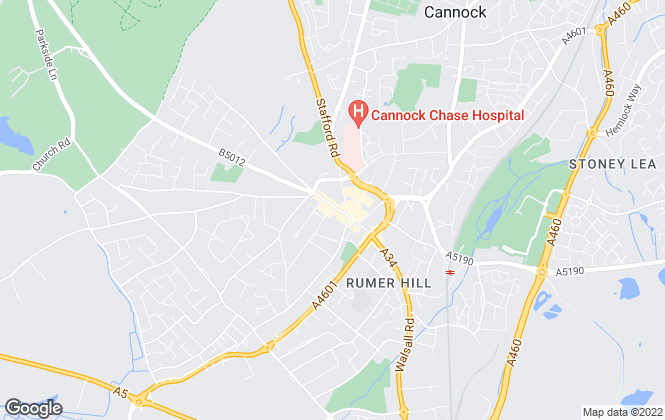 Map for Dixons, Cannock