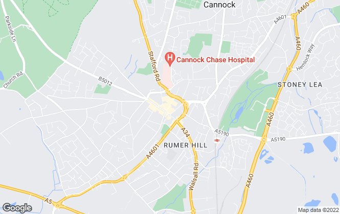 Map for Marwood Homes, Cannock - Sales