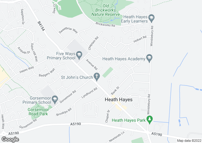 Map for Highfield Road, Heath Hayes, Cannock, Staffs, WS12