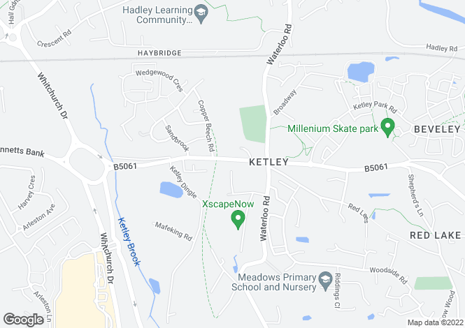 Map for Station Road, Ketley, Telford, TF1