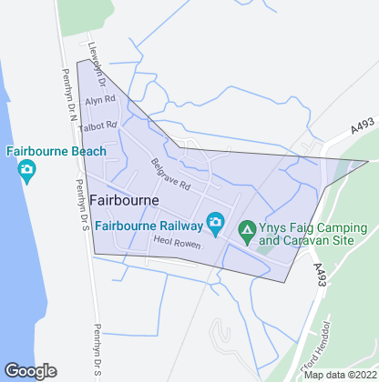 Map of property in Fairbourne