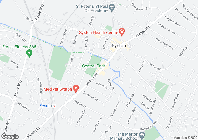 Map for Syston