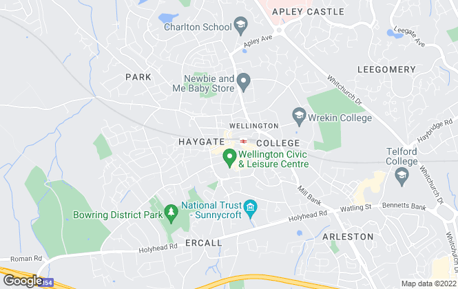 Map for Martin & Co, Telford - Lettings & Sales