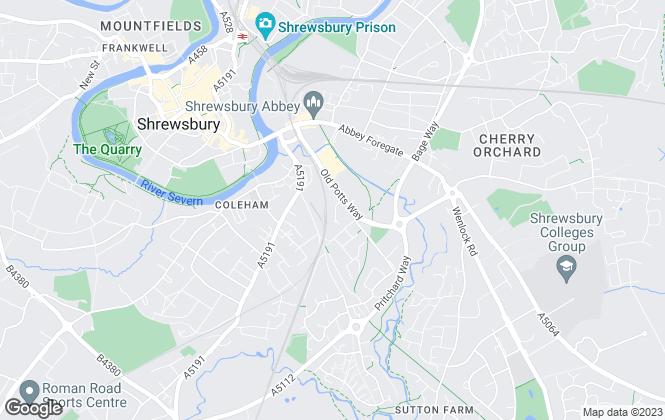 Map for Towler Shaw Roberts, Shrewsbury