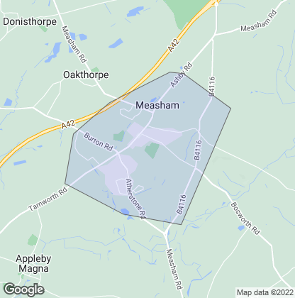 Map of property in Measham