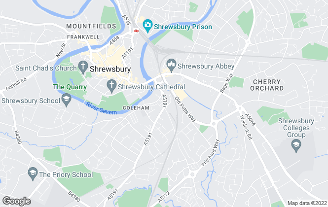 Map for Farebrother Smith Lettings Agents, Shrewsbury