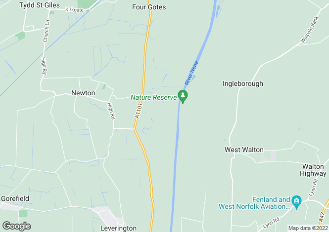 Map for Ferry Lane, Newton, Cambridgeshire