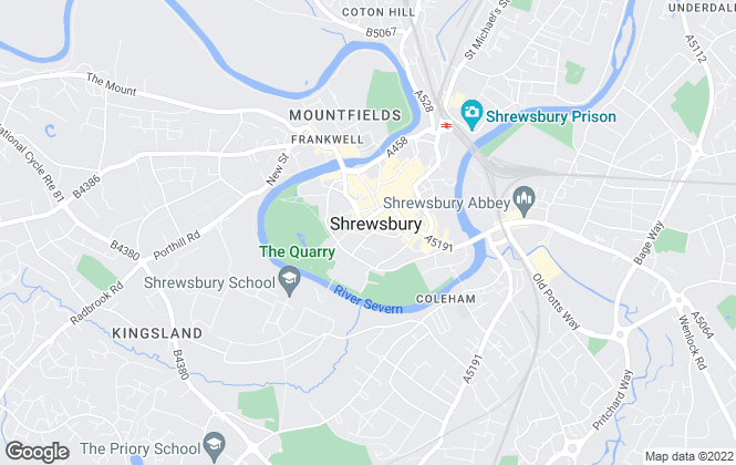 Map for Belvoir, Shrewsbury