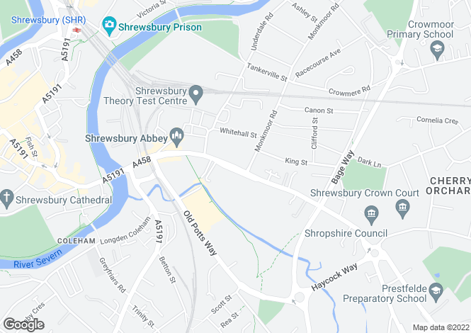 Map for Abbey Apartments, 66 ABBEY FOREGATE, SHREWSBURY