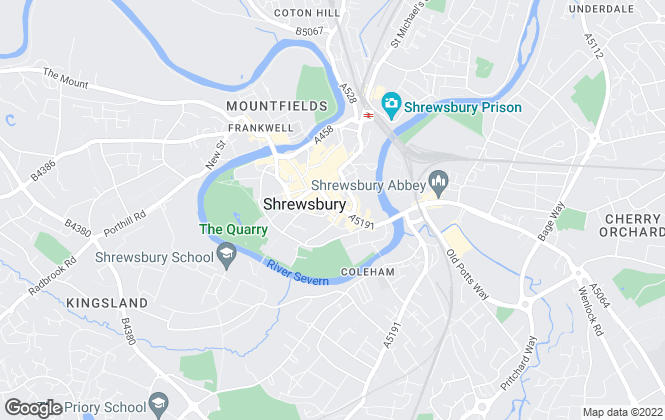 Map for Roger Parry & Partners, Shrewsbury