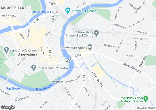 Map for GRESSINGHAM at Riverside Meadow, Abbey Foregate,