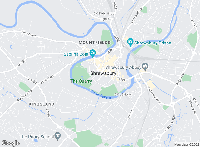 Map for Strutt & Parker, Shrewsbury