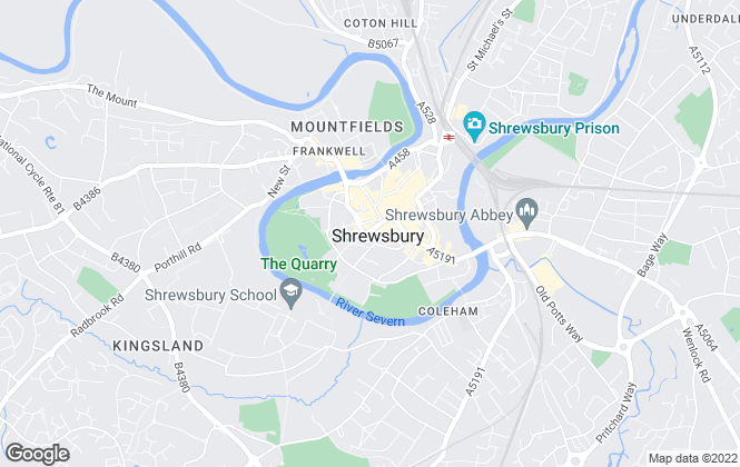 Map for Monks Estate & Letting Agents, Shrewsbury