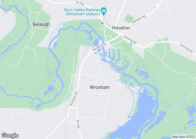Map for Hartwell House, Wroxham