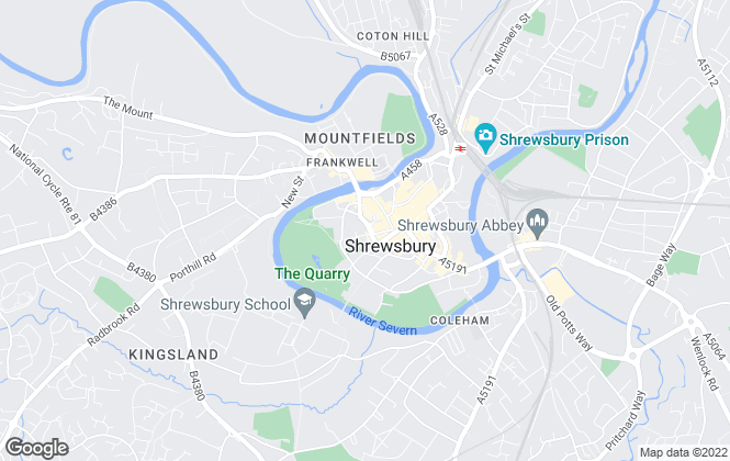 Map for Halls Estate Agents , Shrewsbury