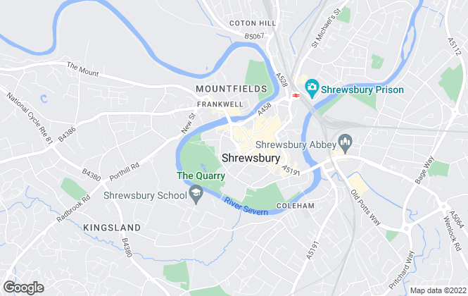 Map for Halls Estate Agents, Shrewsbury