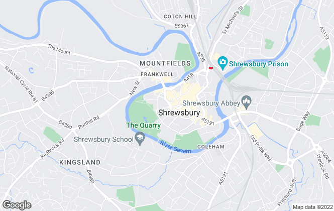 Map for Miller Evans, Shrewsbury