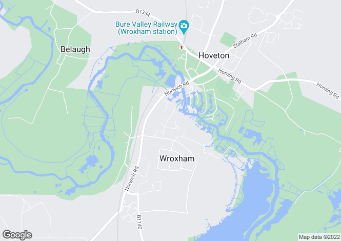 Map for Wroxham, Norwich