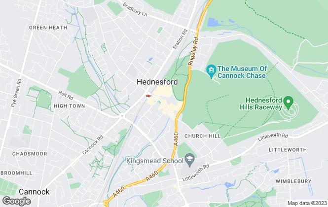 Map for JR Properties Ltd, Hednesford