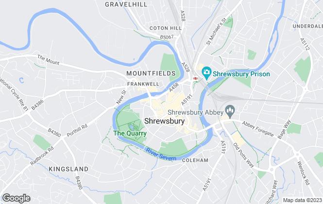 Map for Spencer Jakeman, Shrewsbury