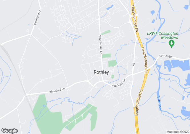 Map for Babington Road, Rothley, Leicestershire